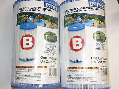 Intex Type B Filter Cartridge for Pools Lot of 2