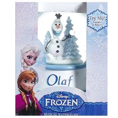 Disney Frozen Holiday Xmas Olaf Musical Snowglobe Waterglobe Play Song Let it Go