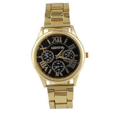 Luxury Fashion Men's Lover's Alloy Band Analog Dressed Wrist Watch Gift