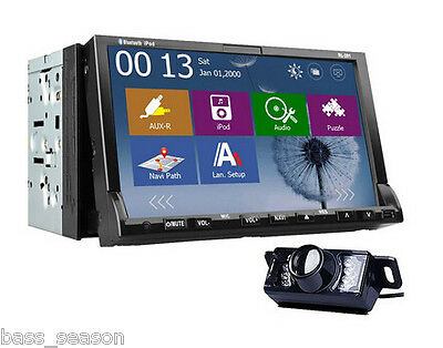 "Windows 8 UI New 7"" Touch Screen 2 Din Car DVD Player w/ ATV GPS 3G WiFi iPod"