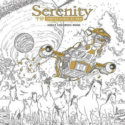 Serenity Adult Coloring Book Joss Whedon Sean Cooke Firefly New Mint