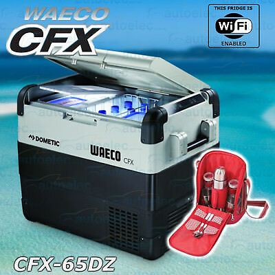 Waeco Cfx-65Dz Dual Zone Portable Fridge Freezer Referigerator + Flask Mug Set