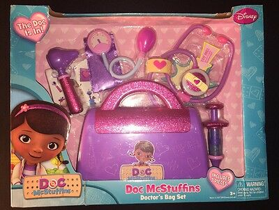 Just Play Doc McStuffins Get Better Center Pretend Doctors Pink Purple Bag NEW