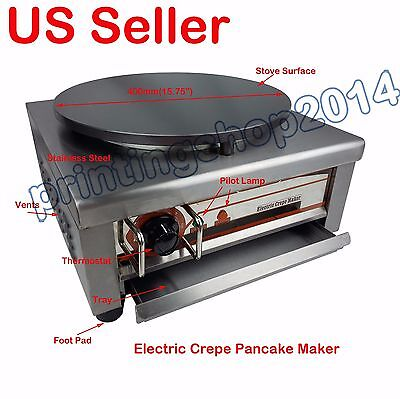Commercial Electric Crepe Maker Machine Pancake Kitchen Maker 400mm/15.75""