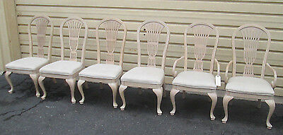 51354 T4:   Set 6 White Wash Dining Room Chairs Chair s