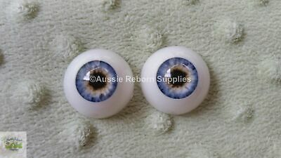 Reborn Baby Round Acrylic Eyes 14mm Light Blue Doll Making Supplies