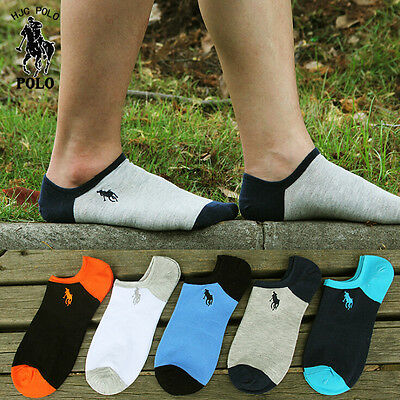 Wholesale Men socks POLO 1-5 Pairs/lot dress for loafers solid soft cotton socks