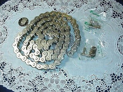 Four (4) Foot RS50 Roller Chain Nickle Covered 48 Inches w/ (2) Master Links NEW