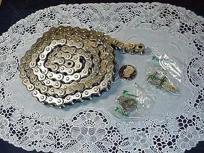 Six (6) Foot RS50 Roller Chain Nickle Covered 72 Inches w/ (2) Master Links NEW!