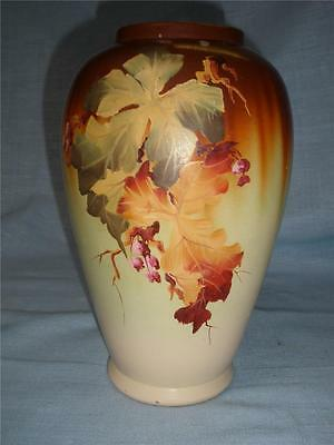 RETRO VINTAGE  POTTERY VASE 1940s HAND PAINTED