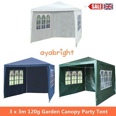 3*3M Waterproof Outdoor Garden Gazebo Marquee Canopy Awning Party Wedding Tent