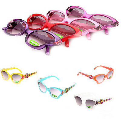 Fashion Toddlers Kids UV400 Sunglasses Girls Cartoon Butterfly Shades Eyeglasses