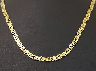 "9ct Yellow Gold 20"" Fancy Celtic Link Necklace/Chain 5mm Width"