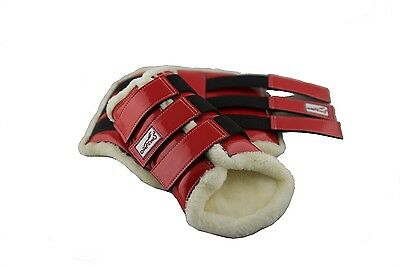 DISCOUNTED FACTORY SECONDS Over-Trot Red Brushing Boots - Full size