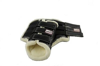 DISCOUNTED FACTORY SECONDS Over-Trot Black Brushing Boots - Pony size