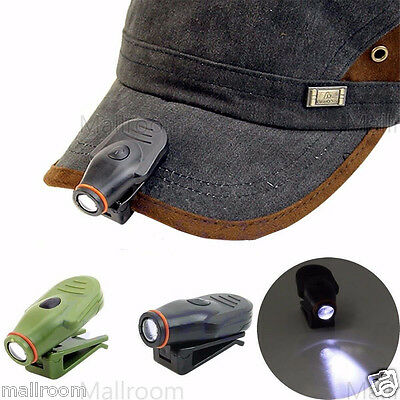 Mini Stirnlampe Clip-on LED Cap Hat Light Headlamp for Hiking Camping Outdoor