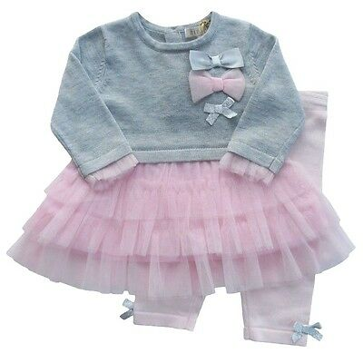 Beautiful Baby Knitted Tutu 2 Piece Outfit Set Romany Style by Zip Zap 18 months