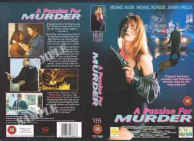 A Passion For Murder, Joanna Pacula VHS Video Promo Sample Sleeve/Cover #9062