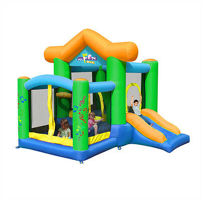 Kids Inflatable Bouncer Castle Toy House Jump Playhouse with Slide and Blower