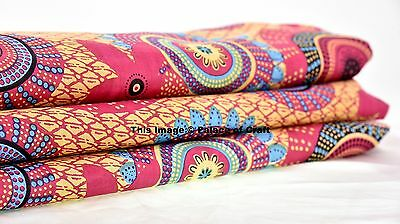 By The Yard Indian Pure Cotton Quilting Abstract Print Dress Making Fabric Cloth