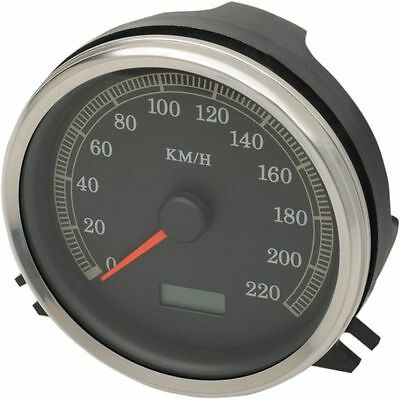 Drag Specialties Electronic Speedometer Km/h For Harley FXST-FLST-FLHR 99-03