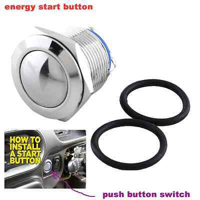 12V Push Button Switch Start Momentary Car Ignition Engine Starter 19mm
