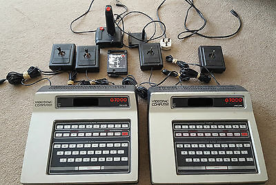 2 x Philips G7000 Videopac Computer Games Console Bundle Untested