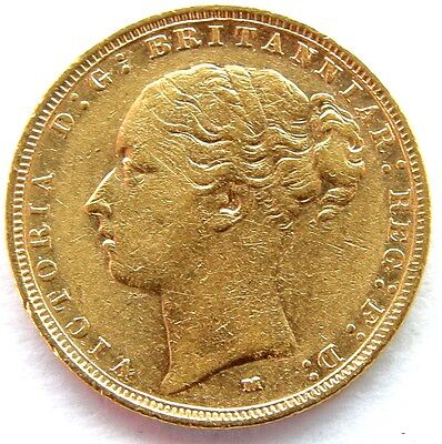 1883 Queen Victoria Full Gold Sovereign Melbourne Mint G&D