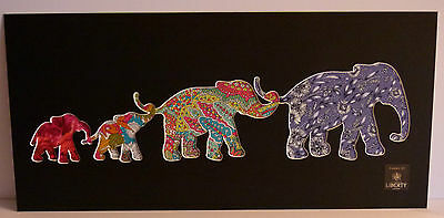Liberty of london Fabric Elephant Picture Silhouette Cut Out Art 2746S
