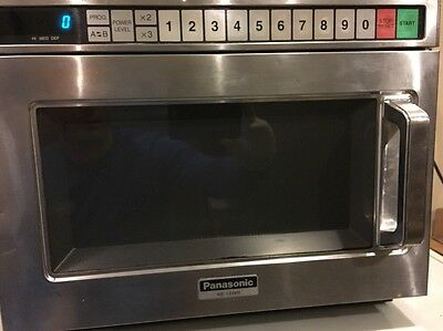 Panasonic Ne-1258R Microwave Oven Commercial Stainess 1200W Compact 120V