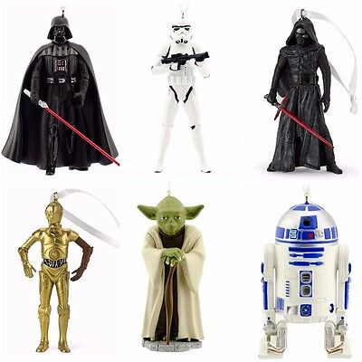 Star Wars Christmas Ornaments Hallmark Special Set Tree Decorations Gift Resin