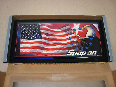 New Snap-on Jebco S02 American Flag w/ Eagle Patriotic Wall Clock Free Shipping