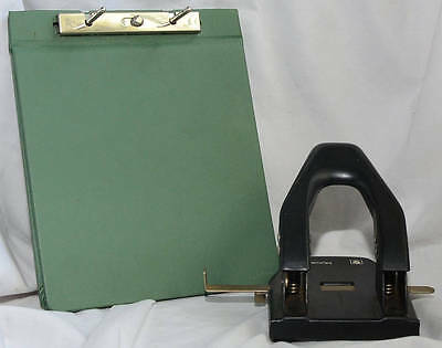 """Vintage Binder and Punch Faultless S792 1/2"""" Post Mutual 50 Punch"""