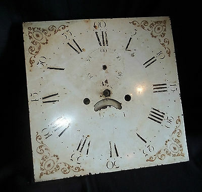 Nice 12in Square 30 Hour Grandfather Clock Movement & Dial.
