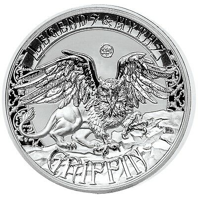 GRIFFIN -Legends and Myths 2oz Double High Relief Reverse Proof Silver Coin 2016