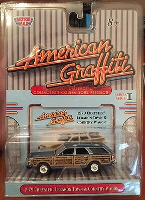 Motor Max AMERICAN GRAFFITI 1979 Chrysler LeBaron Town and Country 1/64  DIECAST