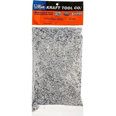 Kraft Tool Ceiling Glitter Silver 1lb. Container