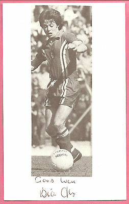 Bryan Flynn Wales football signed below picture on 8 x 5 inch white card.