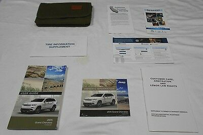 2015 Jeep Grand Cherokee Owner Manual 7/pc.set + Dvd & Olive Sporty Denim Case