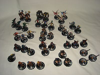 """Mage Knight """"Minions"""" - 46 Figures from Different Factions - Miniature D&D"""