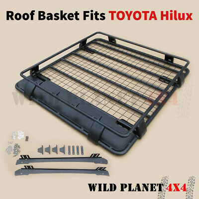 Roof Basket Fits TOYOTA Hilux Powder Coated Steel 4wd Luggage Carrier Cargo