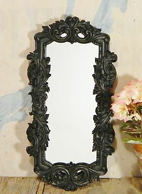 Wall Decor/Home Accent/Ornate Mirror/Black/Scroll/Oblong/Shabby Cottage/BoHo