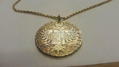 Maria Theresa Gold Thaler Necklace Dated 1780, Austria, Hall 1983