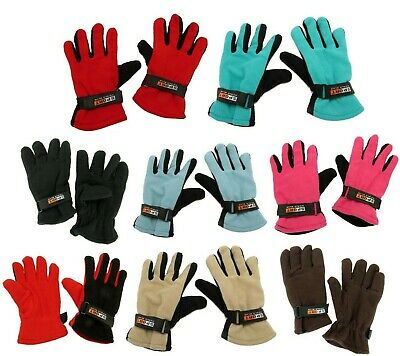 Mens Insulated Thermal Fleece Gloves Winter Warm Snow Ski Mitten One Size
