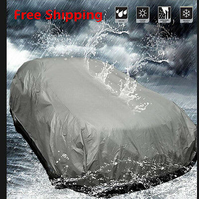M Size Car Cover Waterproof Heat Sun UV Snow Dust Rain Resistant Protection UKAY