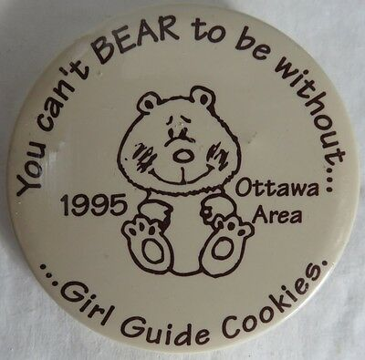 1995 Girl Guide Cookies Pinback Button                (Inv12929)