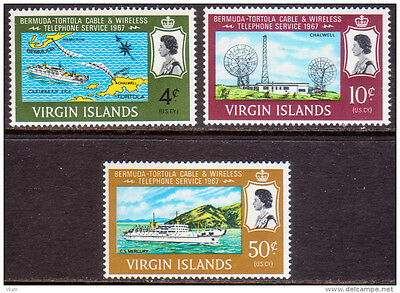 British Virgin Islands 1967 Bermuda-Tortola Telephone Service MNH