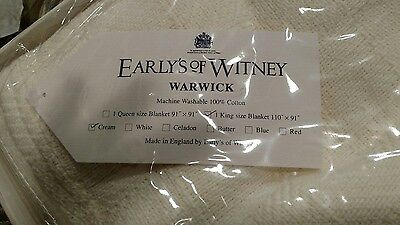 NEW Early's of Witney Warwick Cream Blanket King size free shipping England