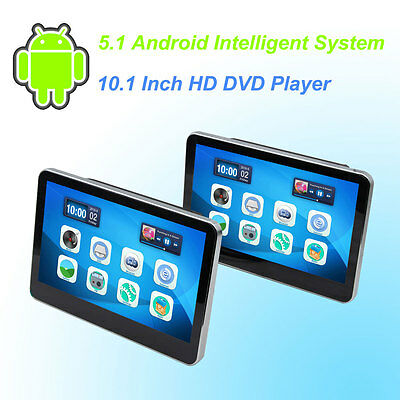 Car Headrest DVD Player Android 5.1 HD 10.1 Inch Monitor HD Quad Core - One Pair