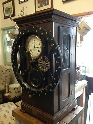 REDUCED TO COST PRICE Dey 50 time register  time clock c 1906 industrial